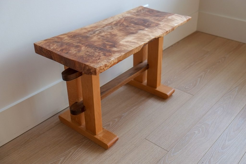 Wondrous Figured Maple Bench Spalted Woodworking Machost Co Dining Chair Design Ideas Machostcouk