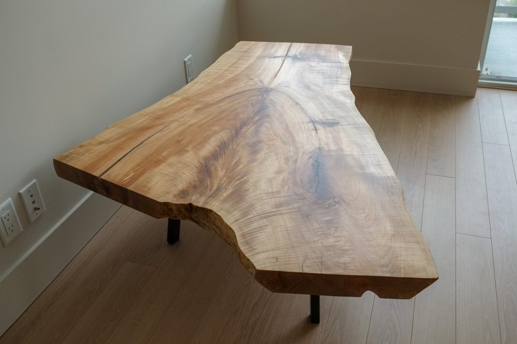 Maple Crotch Coffee Table