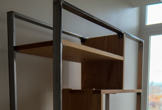 Steel and Oak Bookshelf