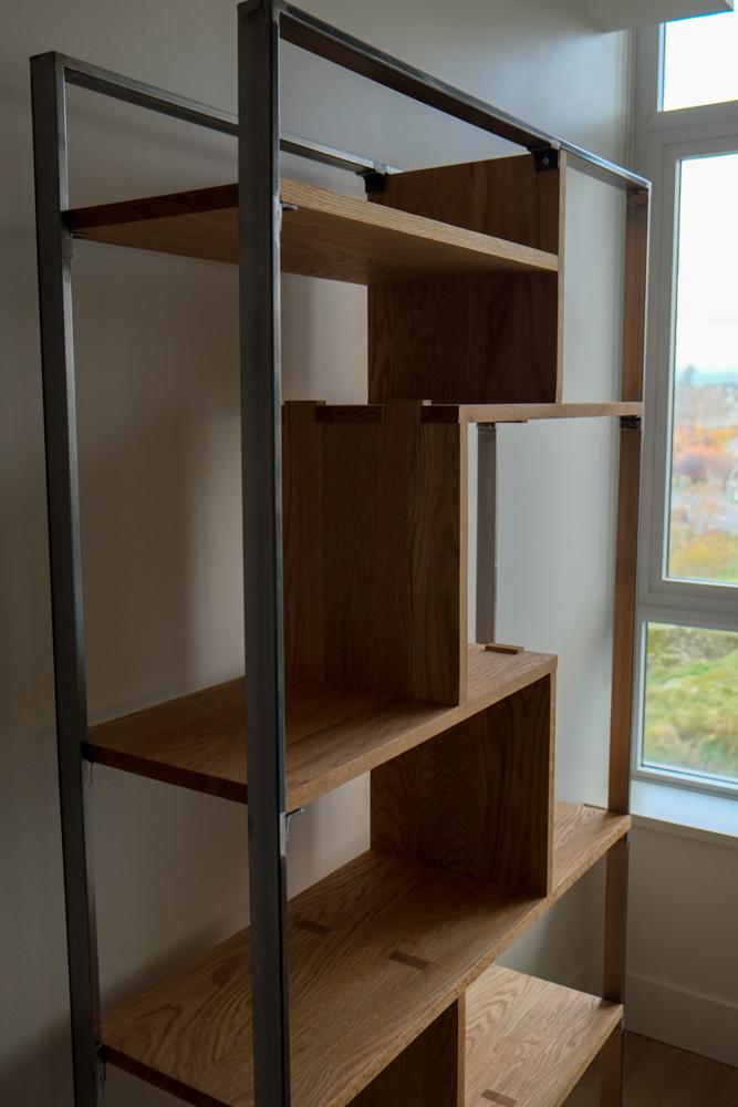 Steel and Oak Bookshelf